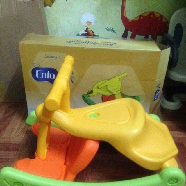 Bập bênh kiêm ghế ngồi enfar 2 in 1 cho bé