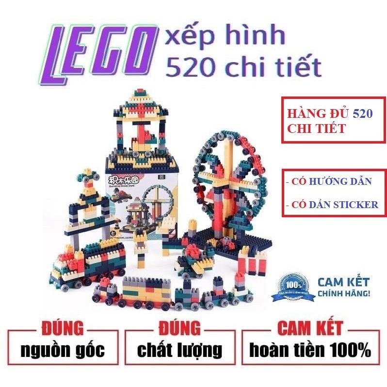 BỘ LEGO GHÉP HÌNH 520 CHI TIẾT SIÊU TRÍ TUỆ CHO BÉ YÊU ( TỔNG KHO GIA DỤNG GIÁ RẺ )