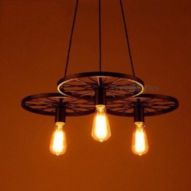 Đèn thả 3 bánh xe tặng kèm bóng LED edison