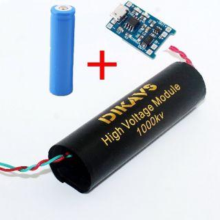 Combo kích điện 1000kv + pin 3,7v +mạch sạc pin 3,7v thumbnail