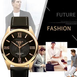 Đồng hồ nam dây da chính hãng YAZOLE tuyệt đẹp, lên tay sang trọng chắc chắn, chống nước tốt ( Mã YA01 ) thumbnail