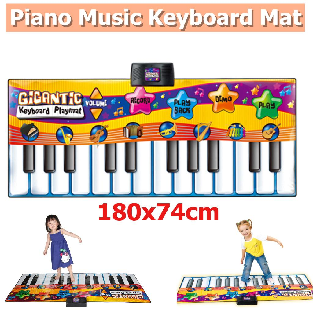 24 Key Gigantic Keyboard Piano Dance Playmat Kids Musical Floor Game Christmas