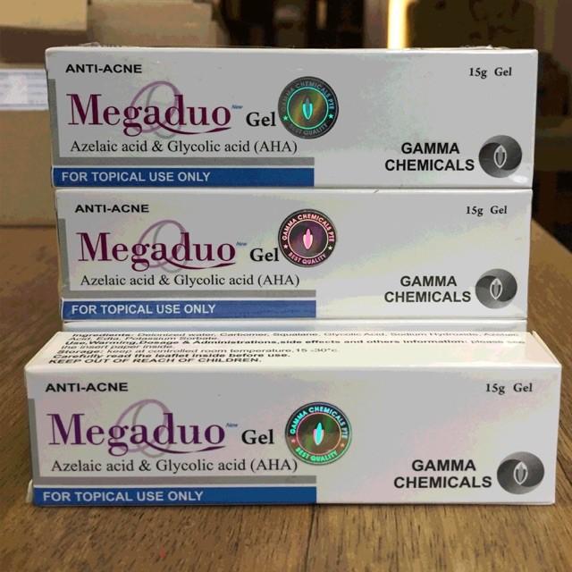 Megaduo Gel giảm mụn, giảm thâm, dưỡng da - Megaduo Azelaic acid & Glycolic acid (AHA) Gel 15g
