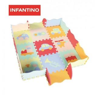 Thảm xốp ghép trải sàn INFANTINO 9 tấm hình họa bao gồm quây
