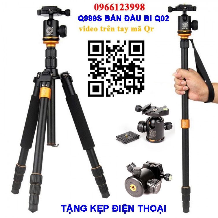 [Mã 1510ELSALE hoàn 7% đơn 300K] Chân máy ảnh Q999s bản đầu bi + Bản đầu quay Video