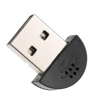Ê USB 2.0 Mini Microphone Mic Audio Adapter Driver Free for Laptop Desktop PC - Skype MSN VOIP Voice Recognition S thumbnail
