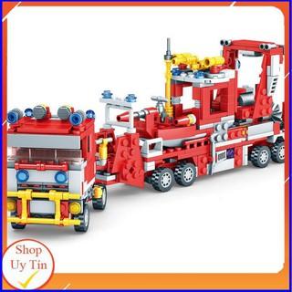 [NEW HOT] Đồ Chơi Lắp Ráp Lego Xe Cứu Hỏa [837CT]