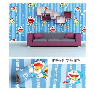 MẪu 9465-Combo 10M giấy dán tường doremon (Khổ 10m x 0.45m) có keo sẵn
