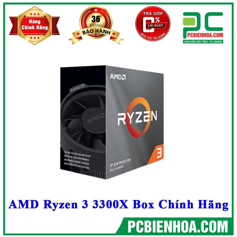 [Mã ELCL3MIL giảm 5% đơn 3TR] BỘ VI XỬ LÝ CPU AMD RYZEN 3 3300X BOX CHÍNH HÃNG