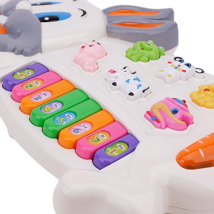Đồ chơi Đàn pin hình thỏ cho trẻ em - HD