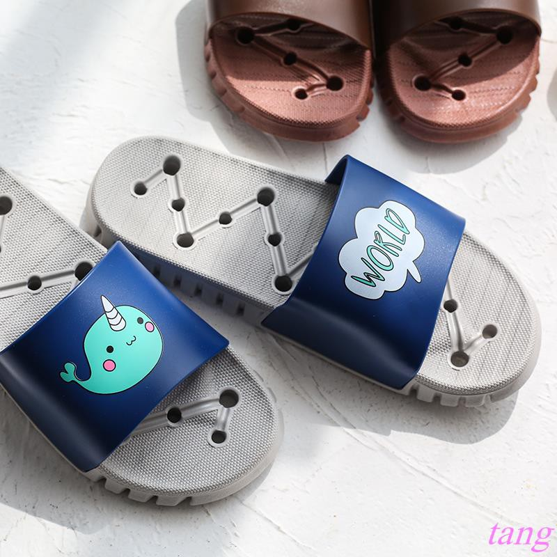 Cute cartoon sandals and slippers, Japanese soft bottom slippers, female bathroo