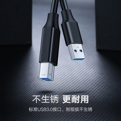 Cáp Máy in USB 3.0 Ugreen 10372 dài 2M cao cấp màu đen(mạ vàng)