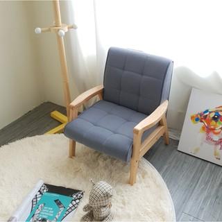 Sofa tay gỗ trẻ em BNS8010-1P Ghế đơn Xám