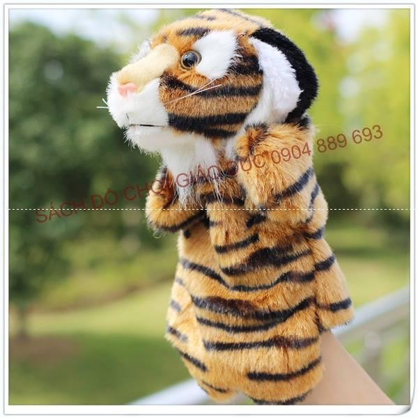 Rối bàn tay hình con hổ (hình các con vật)