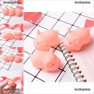 [bestbuyshop] 3Pcs Pink Pig Soft Animal Squishy Healing Squeeze Toy Gift Stress Reliever Decor adover