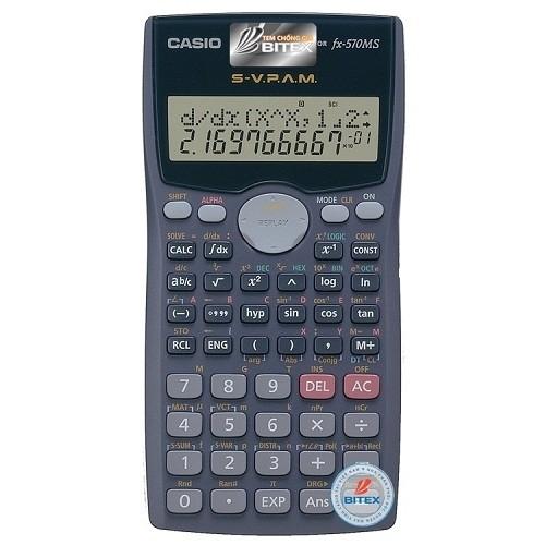 Máy tính Casio FX-570MS- Sản phẩm TEM BẠC chính hãng Bitex - 2996910 , 570969774 , 322_570969774 , 399000 , May-tinh-Casio-FX-570MS-San-pham-TEM-BAC-chinh-hang-Bitex-322_570969774 , shopee.vn , Máy tính Casio FX-570MS- Sản phẩm TEM BẠC chính hãng Bitex