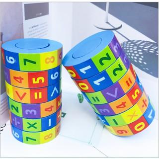 Rubic toán học bằng gỗ, đồ chơi phát triển trí tuệ