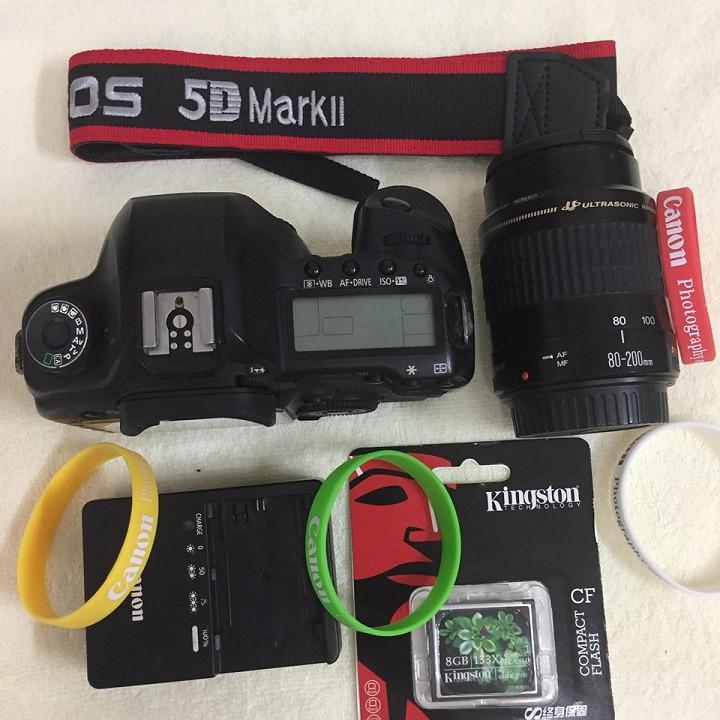 Canon 5D mark II kèm lens canon 55-200 mm f4.5-5.6