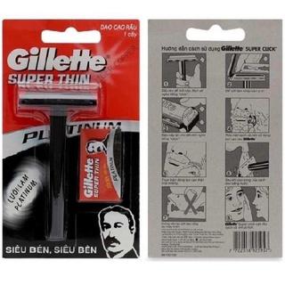 Dao Cạo Râu Gillette Super Thin (đã kèm dao lam)