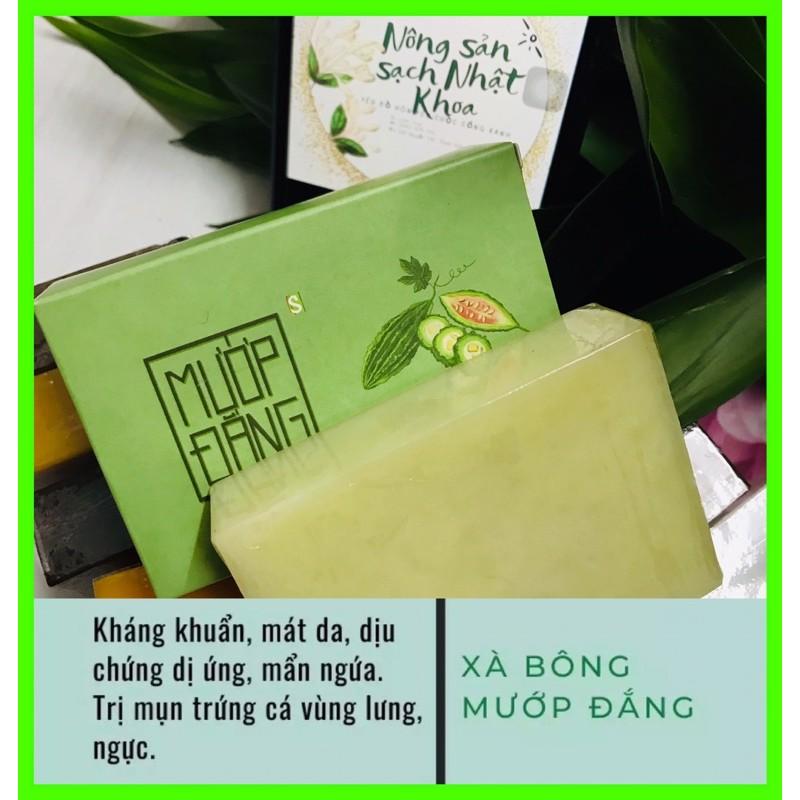 Soap, xà bông mướp đắng sinh dược organic làm dịu dị ứng, mát da, ngừa mụn.