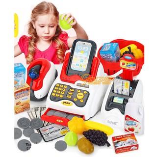 Máy tính tiền siêu thị dùng pin kèm phụ kiện cho bé