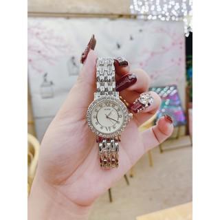 Đồng hồ Nữ Gue Dây Kim Loại 2 màu vàng bạc hợp thời trang , bền bỉ tặng kèm pin kèm hộp