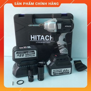 [FREE SHIP]Máy siết bulong Hitachi 88V 2 Pin 15000 mAh – Tặng 1 đầu chuyển vít, khẩu 22 [HÀNG CHÍNH HÃNG]