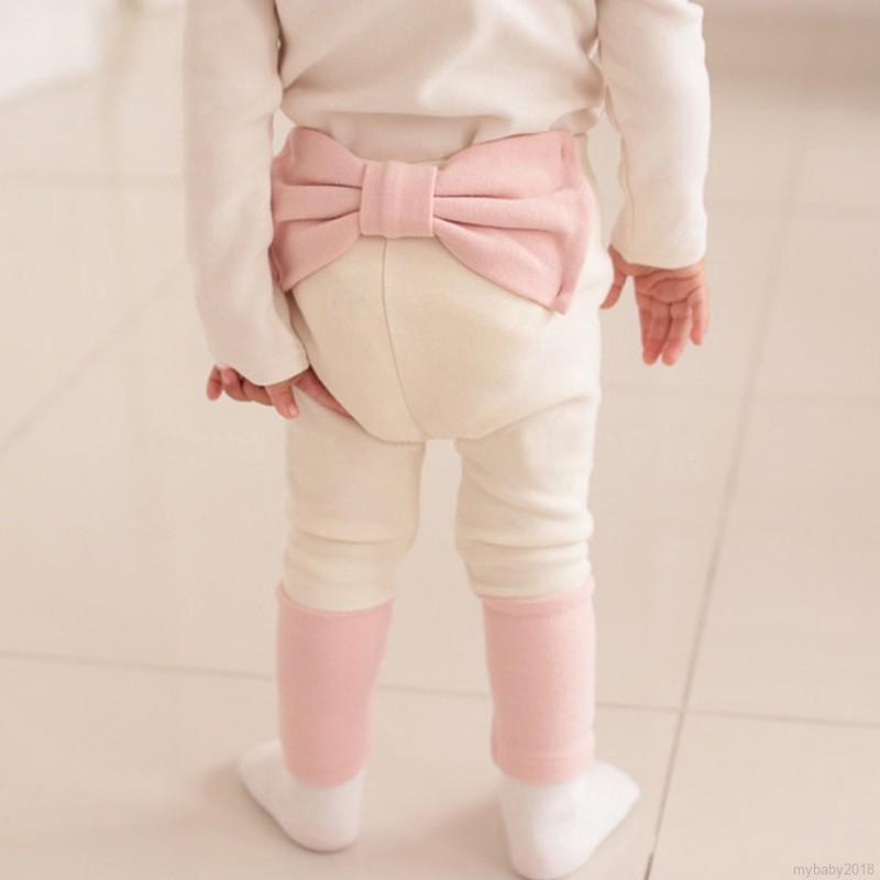 Quần dài cotton lưng cao cho bé
