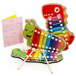 Wooden Cartoon Animal Knocking Piano Children's Music Toy
