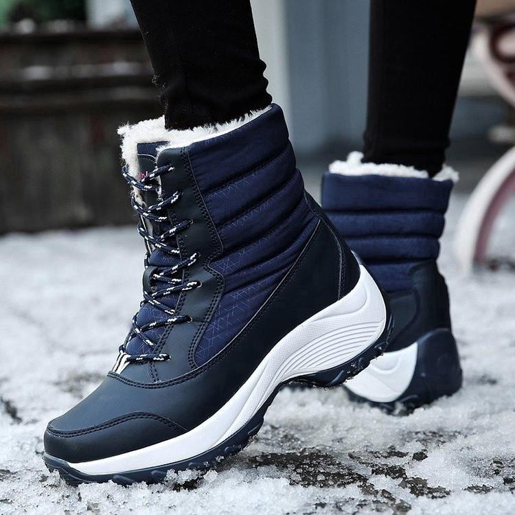 Giày bốt cổ ngắn đi tuyết chống thấm nước cho nữ