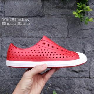 Giày nhựa đi mưa, đi biển - Chất nhựa xốp siêu nhẹ, không thấm nước - Màu đỏ thumbnail