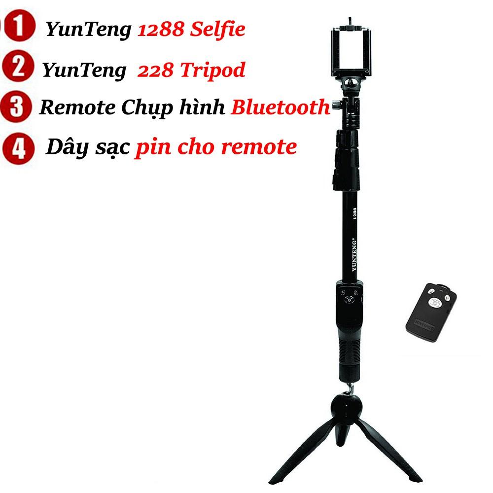 Bộ đôi gậy máy ảnh YT1288 + Giá đỡ 3 chân YunTeng YT228 - tặng remote - 2526257 , 1220662139 , 322_1220662139 , 139000 , Bo-doi-gay-may-anh-YT1288-Gia-do-3-chan-YunTeng-YT228-tang-remote-322_1220662139 , shopee.vn , Bộ đôi gậy máy ảnh YT1288 + Giá đỡ 3 chân YunTeng YT228 - tặng remote