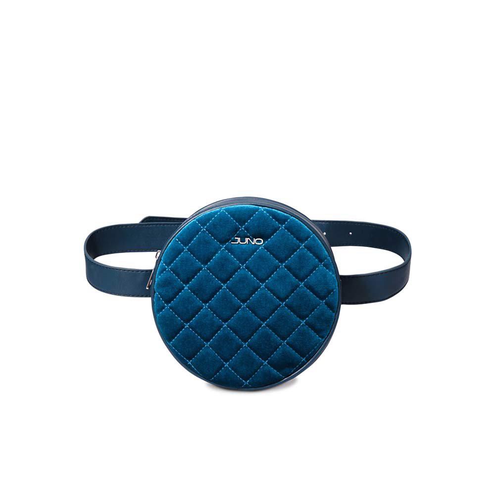 Juno - Túi đeo hông dáng tròn vải nhung T