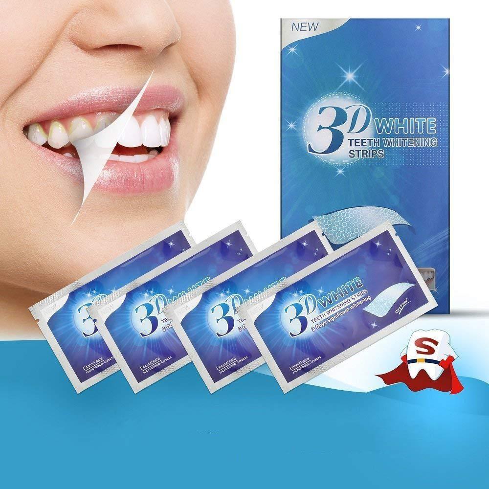 Miếng dán trắng răng tiện lợi 3D White Teeth Whitening Strips