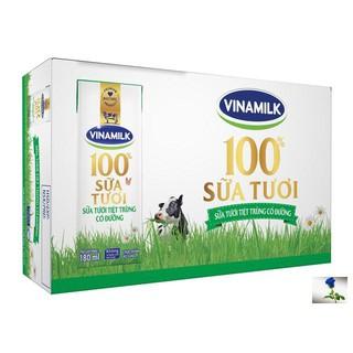 [Date mới nhất] Thùng 48 hộp Sữa tươi tiệt trùng Vinamilk có đường 180ml