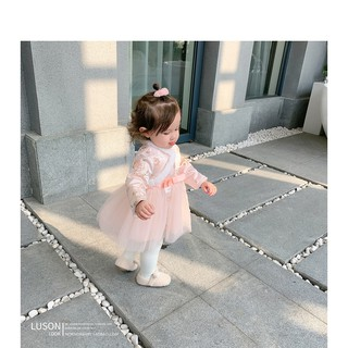 Đầm Phong Cách Trung Hoa Dành Cho Bé Gái