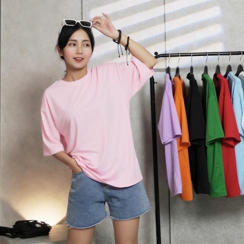 Áo thun trơn tay lỡ MICO shop nữ nam dáng Unisex form rộng - áo phông basic tee phông trơn freestyle | SaleOff247