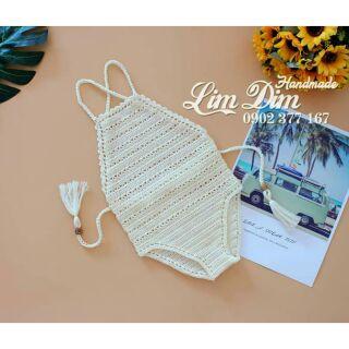 Bikini handmade dạng yếm cho bé có hình thật và feedback của khách