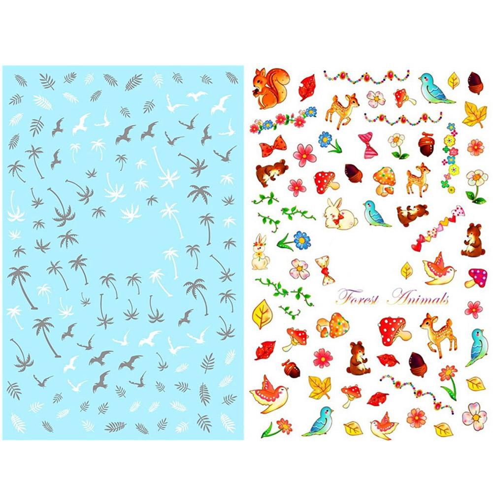 Thin Nail Ultra Art Types 2 Decoration Transparent Pattern Adhesive Decals Stickers