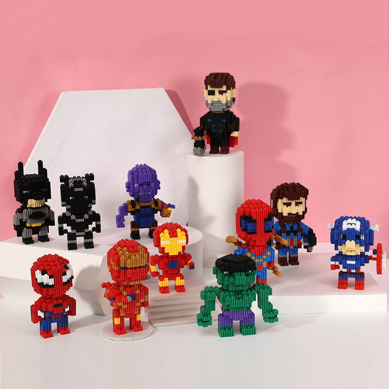 【happylife】New miniature compatible Lego masonry building blocks, small particles of male and female intelligence development, assembling adult decompression children's toys...