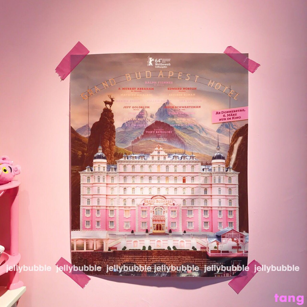 *JELLY BUBBLE*Customized Budapest Grand Hotel Pink Castle Gi