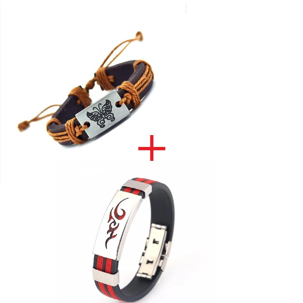 Bộ 2 vòng Vitage hình bướm +Vòng đeo tay Titan hình ngọn lửa - 2602093 , 1008983640 , 322_1008983640 , 49000 , Bo-2-vong-Vitage-hinh-buom-Vong-deo-tay-Titan-hinh-ngon-lua-322_1008983640 , shopee.vn , Bộ 2 vòng Vitage hình bướm +Vòng đeo tay Titan hình ngọn lửa