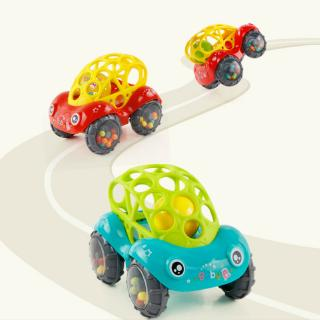 Baby Car Doll Toy Crib Grip Hand Catching Ball for Newborn Toy car inertial slide with colorful ball children toy car