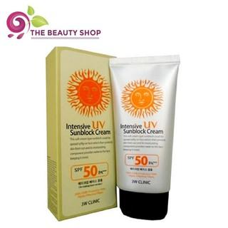 Kem chống nắng 3W Clinic Intensive Sunblock cream 70ml (hộp mặt trời đỏ)