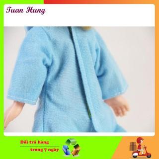 [MAX RẺ] Búp bê cô bé quàng khăn xinh đẹp (Xanh) cho bé siêu bền