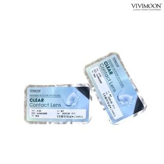 Kính Áp Tròng Trong Suốt VIVIMON ICE CLEAR - Lens Cận Không Màu