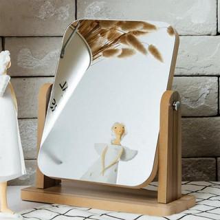 Gương Để Bàn, Gương Gỗ Mini Trang Điểm Để Bàn Decor Phong Cách Hàn Quốc PAPAA.HOME