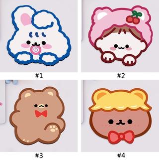 Cartoon Cute Silicone Bear Mouse Pad Creative Non-slip Coaster