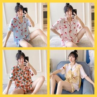 Pijama lanh lụa mặc nhà 💄 pijama sau sinh 💄 [tay ngắn – quần đùi ]