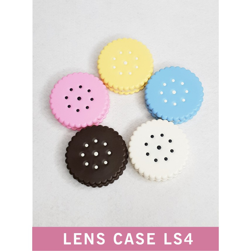 Hộp đựng kính áp tròng nhiều màu, khay đựng lens bánh quy LS4 - Lens Ann 365 Việt Nam